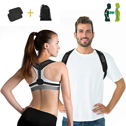 Charminer Haltungstrainer,Geradehalter zur Haltungskorrektur Rückentrainer Schulter Rückenstütze,Schultergurt gegen Nacken -und Schulterschmerzen für gerader Rücken Damen Herren mit Schulterpolster