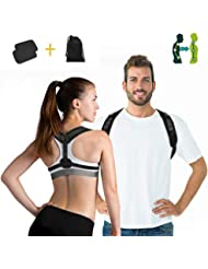 Charminer Haltungstrainer,Geradehalter zur Haltungskorrektur Rückentrainer Schulter Rückenstütze,Schultergurt gegen Nacken -und Schulterschmerzen für gerader Rücken für Damen Herren