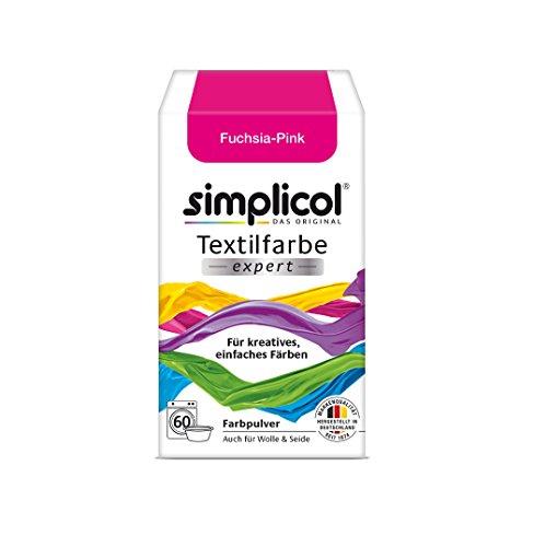 simplicol Textilfarbe expert für kreatives, einfaches Färben, Fuchsia-Pink 1705: Farbe für Waschmaschine oder manuelles Färben