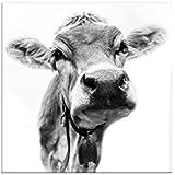 Image of 'brilliantes immagine in grande formato XXL, 100x 100cm, Muh di Günter Lenz, textilleinwand di alta qualità...