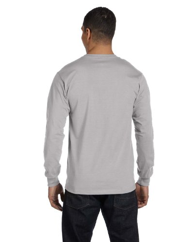Hanes Tagless Long-Sleeve T-Shirt Light Steel / Ash