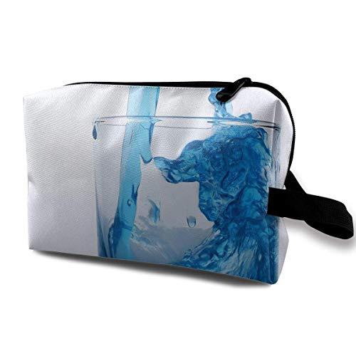 Glas Tasse Wein Kosmetiktaschen Makeup Organizer Tasche Reißverschluss Geldbörse Handtasche Clutch Bag