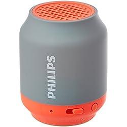 Philips BT50G Mini Enceinte Bluetooth portable avec entrée audio, batterie rechargeable rapidement, Gris