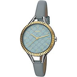 Joop! Damen-Armbanduhr Blue Break Analog Quarz Leder JP101872002