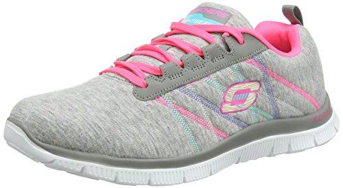 Skechers - Flex Appeal - Miracle Worker, Sneakers da donna Grigio (Grigio (Grey/Pink))