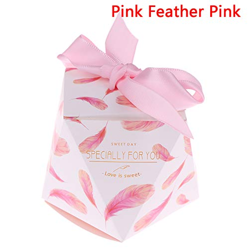 pcs Polygon Diamond Shape Candy Es Container Foldable European Est Gifts Chocolate Wedding Favor - Box Candy & Pack Carton Diamond Wedding Diamond Bag Lock Fabric Box We ()