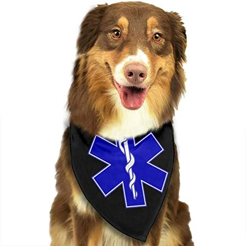 Rghkjlp Star of Life Dog Bandana Collars Triangle Neckerchief Puppy Bibs Scarfs Pet Scarfs Cats and Baby Scarf Towel