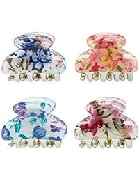 Accessorize 4pinces motif floral coloré - Femme