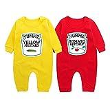 culbutomind Yummz Tomato Mustard Farbe Rot gelb Fun Baby-Strampler Baby Geschenke Geburt Erstausstattung(Yummz KM-S3M Bodysuit)