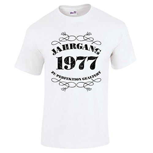 Herren T-Shirt Spaß 40. Geburtstag Jahrgang 1977Geschenk verpackt Weiß