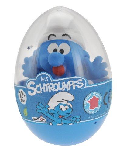 """Die Schlümpfe - Kunststoff Figur im Ei, ca. 7 cm, Motiv """"Schlumpf streckt Zunge raus"""""""