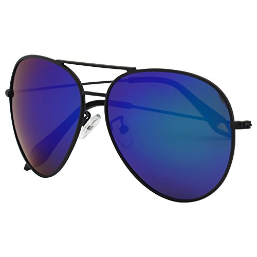 CGID CM809 Original Classic Metal Standard Polarized Polarized Aviator Sunglasses w/ Flash Mirror Lens UV400