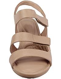 Moda Brasil Rustic Brindle Lurex Beige Fashion Sandals For Women