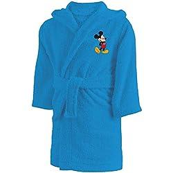 CTI Peignoir 6/8 Ans Disney Mickey Star, 100% Coton Bouclette, Bleu
