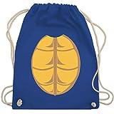 Karneval & Fasching - Kostüm Schildkröte - Unisize - Royalblau - WM110 - Turnbeutel & Gym Bag