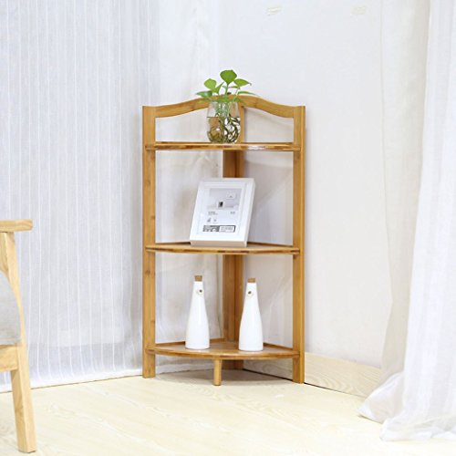 PLL Corner Rack Floor Corner Rack Eckregal Bamboo Art Flower Rack Home Corner Rack