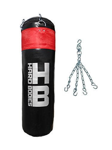 Hard Bodies Synthetic Leather Punching Bag- Black - FILLED