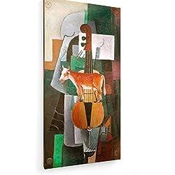 Kasimir Malewitsch - Kuh und Violine - 30x60 cm - Leinwandbild auf Keilrahmen - Wand-Bild - Kunst, Gemälde, Foto, Bild auf Leinwand - Alte Meister/Museum