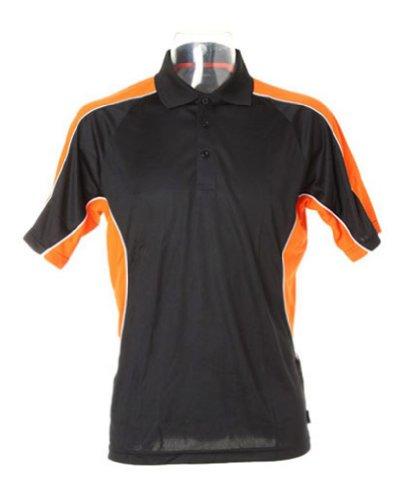 Kustom KitHerren Poloshirt - Black/ Orange