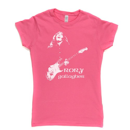 Rory Gallagher Womens Fitted T-shirt Irish Blues Rock 1960's 1970's 1980's Music Rosa