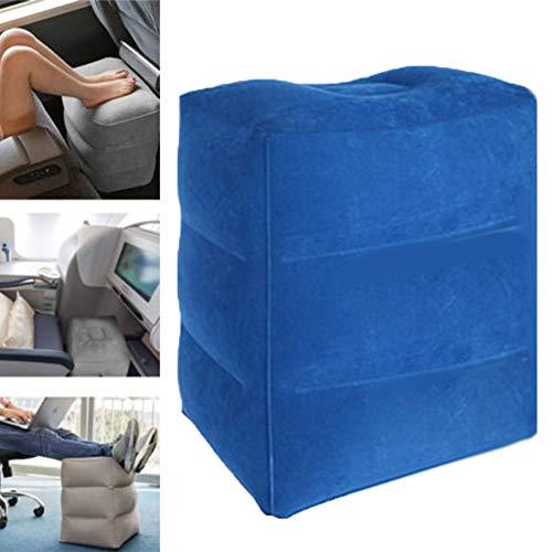 AxssjS 3 Schichten aufblasbare fußstütze Yoga pad Reise Luft Kissen Kissen Auto Flugzeug schlafsofa Grau