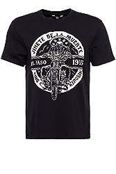 King Kerosin Herren Shirt EL Paso Print Rundhals Kurzarm Regular Fit EL Paso