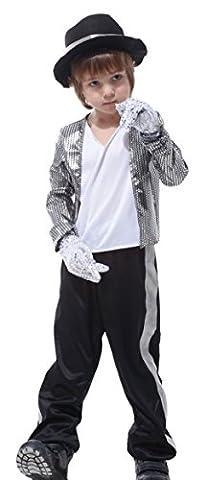 GIFT TOWER Déguisement Costume Enfant Garçon Cosplay Vedette Étoile Fantaisie Accessoire Déguisé Vêtement (9-10