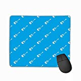 Mouse Pad Classical Electric Guitar Pattern Blue Classical Electric Guitar Pattern Repeat Blue Color Any Rectangle Rubber Mousepad 11.81 X 9.84 inch