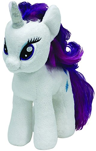 TY 41075 - My Little Pony - Schmusetier Rarity, groß, 24 cm (Rainbow Plüsch Dash)