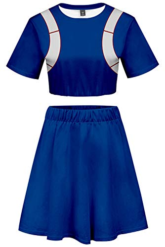 Kostüm Cheerleader Heroes - My Hero Academia Cosplay Todoroki Shoto Kostüm Cheerleader Cheerleading Uniform Crop Top Rock Set M