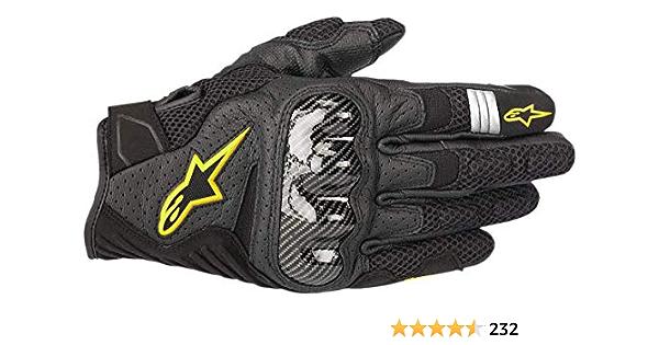 Alpinestars Motorradhandschuhe Smx 1 Air V2 Gloves Black Yellow Fluo Schwarz Gelb S Auto
