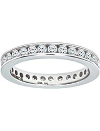 Naava Women's 18 ct White Gold 1 ct Diamond Channel Set Eternity Ring