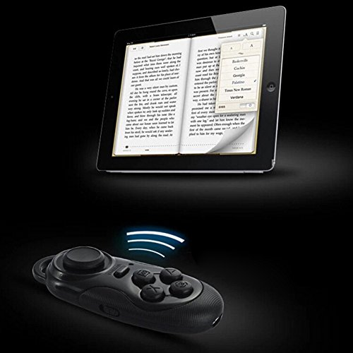 Hibote Portable Mini Multifunctional Wireless Bluetooth Camera Shutter Gamepad Control Wireless Bluetooth 3.0 Remote Controller Compatible with 3D VR Glasses Google Cardboard Selfie Camera Shutter Wireless Mouse Music Player iPhone iPad Ebook Tablet PC TV IOS Android PC systems Schwarz