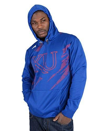 adidas Mens University of Kansas Fashion Hoodie Royal Blue XXL Kansas University