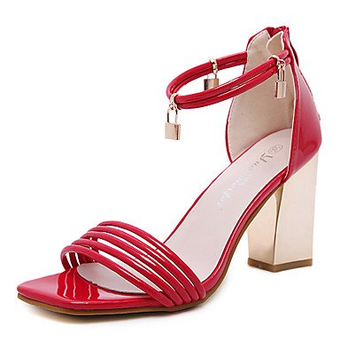 LvYuan Da donna-Sandali-Formale-Altro-Quadrato-PU (Poliuretano)-Nero Rosa Rosso Black