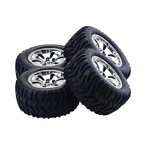 Preisvergleich Produktbild Noradtjcca 4 STÜCKE RC Auto Felgen Reifen für HPI,  HSP Savage,  XS,  TM Flux,  MT,  ZDRacing,  LRP 1 / 10 Truggy Monster Truck Gummireifen 12mm Hex