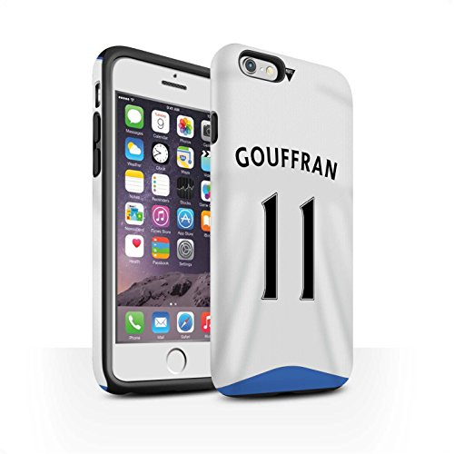 Offiziell Newcastle United FC Hülle / Matte Harten Stoßfest Case für Apple iPhone 6S / Pack 29pcs Muster / NUFC Trikot Home 15/16 Kollektion Gouffran