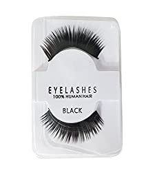 Majik Human Hair False Eyelashes For Eye Makeup | Eyelashes For Small Eyes | Eyelashes For Personal And Professional Use (Heavy)
