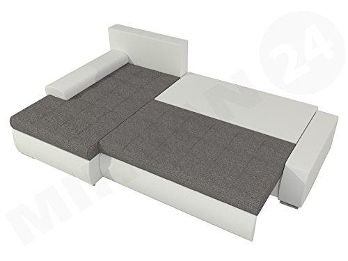 ORKAN MINI Ecksofa mit Schlaffunktion und Bettkasten in L-Form
