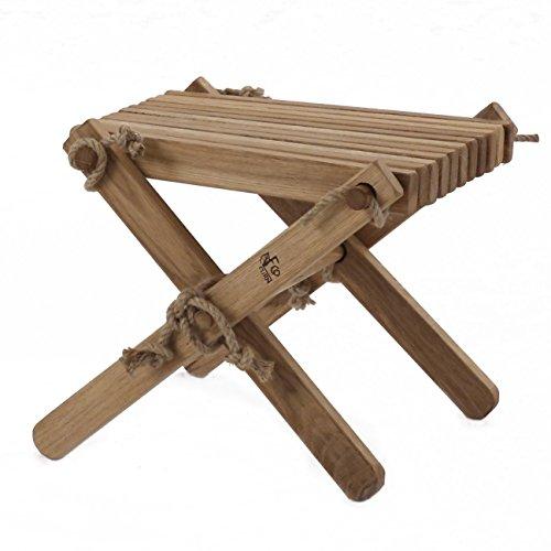 Eiche Montiert (ecofurn Lilli geölt montiert Beistelltisch/Foot Rest, Holz, Eiche, braun)