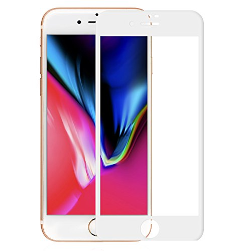 iPhone 8 Panzerglas Schutzfolie Pomelo Best 3D Vollständige Abdeckung Displayschutzfolie 99% Transparenz 9H Hartglas (4,7, Weiß)