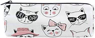 Fun Fun Fun Cats Cute Trousse Sac pochette pour l'école enfants garçons filles étudiant avec fermeture à glissière ronde Maquillage Sacs B07HNRWRRY e566c3