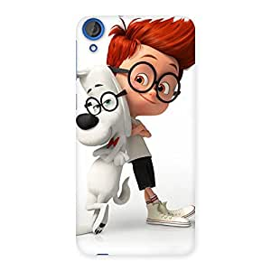 Cute Boy and Dog Back Case Cover for HTC Desire 820s
