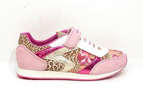 Geox J Eliott A, Sneaker bambina Pink