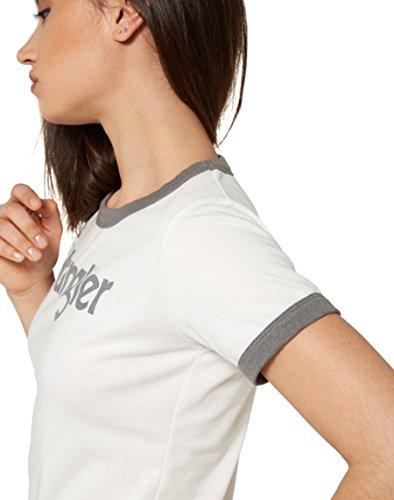 Wrangler Damen T-Shirt Retro Kabel Tee Grau (Smoked Grey 2T)
