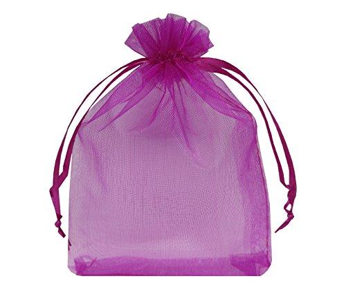 Ankirol 100Organza Taschen 10,2x 15,2cm Hochzeit Baby Dusche Geschenk Karte Gastgeschenken Staubbeutel Samples Bestellungen Display Kordelzug Beutel 4x6 Rosarot (Baby-dusche-geschenk-karte)