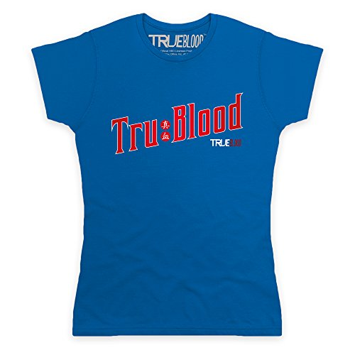 Official True Blood - TRU Blood T-Shirt, Damen, Royalblau, XL -