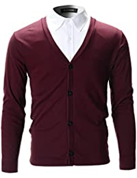 FLATSEVEN Cardigan Chemise Slim Fit Chic Homme