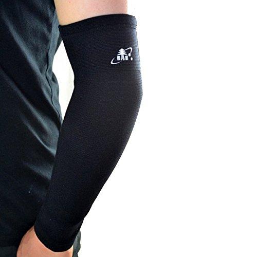 Unterarm-stütze (eeddoo® ELLENBOGENBANDAGE elastisch zur Schmerzlinderung bei Tennisarm & Golfarm, Ellbow Sleeve, beste Kompression und Wärme beim Training, Verletzungsprävention, gut für Kraftsport, Gewichtheben)