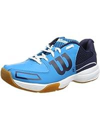Wilson WRS322350E065, Zapatillas de Tenis Unisex Adulto, Azul (Hawaiian Ocean / Navy / White), 41 1/3 EU